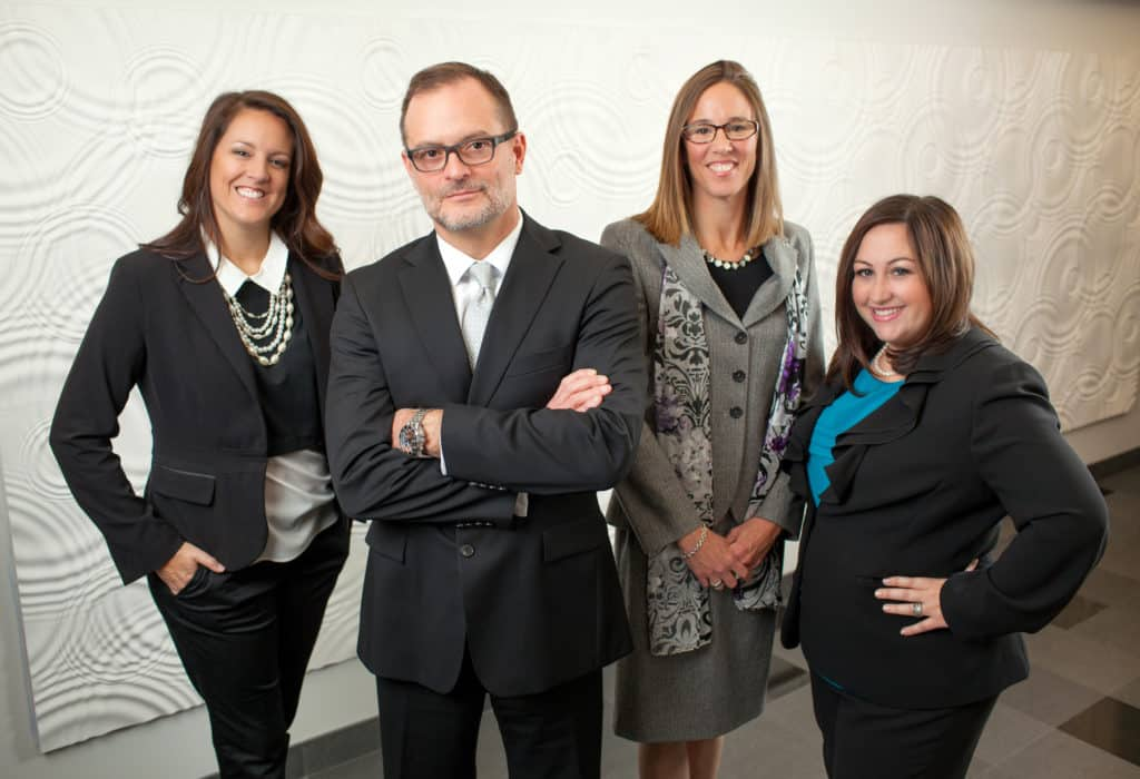 group photo of the divorce attorneys of the law firm of lerandeau & lerandeau